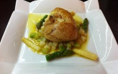 Dodine de poulet jaune aux asperges
