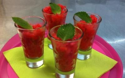 Granité à la fraise