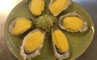 Huîtres gratinées sauce mousseline