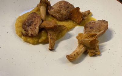 Filets de cailles, mousseline de butternut
